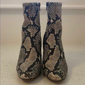 Aldo Snakeskin Booties